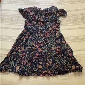 Lulus off the should floral dress